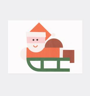Postkarte Weihnachten Weihnachtsmann Schlitten für Kinder . Julia Matzke . Illustration . Bilder für Kinder