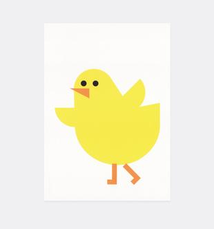 Postkarte Küken für Kinder . Julia Matzke . Illustration . Bilder für Kinder