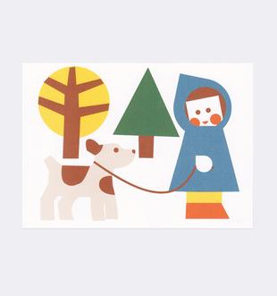 Postkarte Kind Hund für Kinder . Julia Matzke . Illustration . Bilder für Kinder