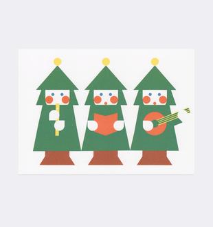 Postkarte Weihnachten Musik für Kinder . Julia Matzke . Illustration . Bilder für Kinder