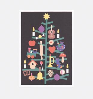 Postkarte Weihnachtsbaum für Kinder . Julia Matzke . Illustration . Bilder für Kinder
