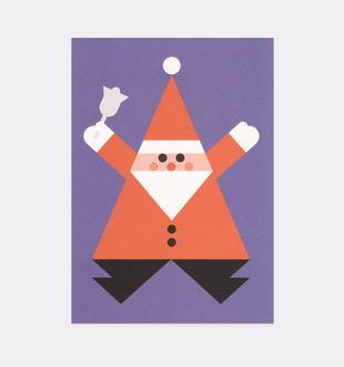 Postkarte Weihnachten Weihnachtsmann Hampelmann für Kinder . Julia Matzke . Illustration . Bilder für Kinder