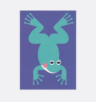 Postkarte Frosch für Kinder . Julia Matzke . Illustration . Bilder für Kinder