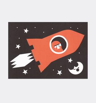 Postkarte Rakete / Weltraum für Kinder . Julia Matzke . Illustration . Bilder für Kinder