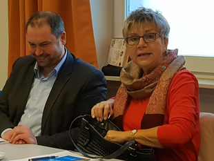 Johannes Klomann, MdL (SPD) und Helga Lerch, MdL (FDP)
