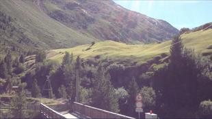 Brücke Vent Alpen Österreich E5 Zwieselstein Sonneck