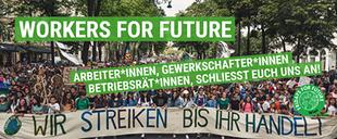 Petition: Gewerkschaften - unterstützt die Klimastreiks! Bild: FRIDAYS FOR FUTURE scrsht
