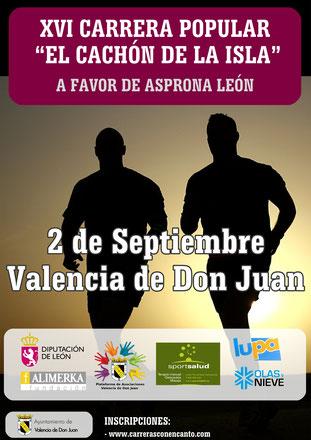 XVI CARRERA EL CACHÓN DE LA ISLA - Valencia D. Juán, 02-09-2017