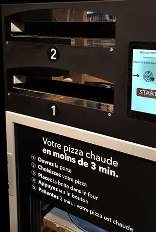 interface distributeur pizza