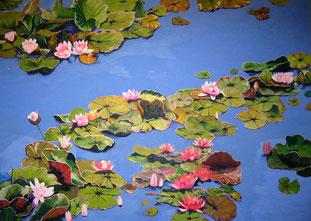 Seerosen1, 2011, Öl auf Leinwand, 170 x 240 cm