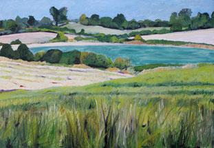 Landschaft bei Seffent, 2010, Öl auf Leinwand, 150 x 190 cm