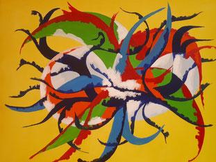 Konferenz, Konferenz, Acryl, 50cm x 40 cm