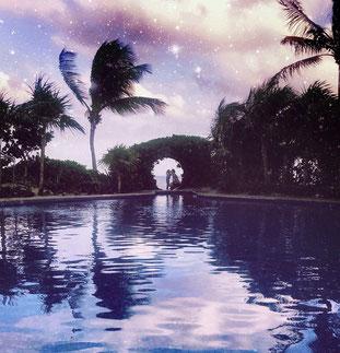 Das Bild wurde in Pablo Escobars Mansion aufgenommen. (Beachfront Tulum)