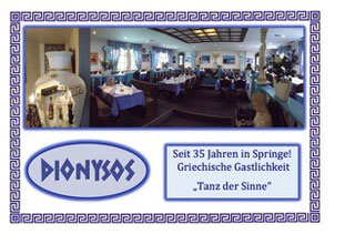DIONYSOS, An der Bleiche 1A, 31832 Springe