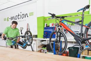 Die e-motion e-Bike Experten in der e-motion e-Bike Welt in Bielefeld