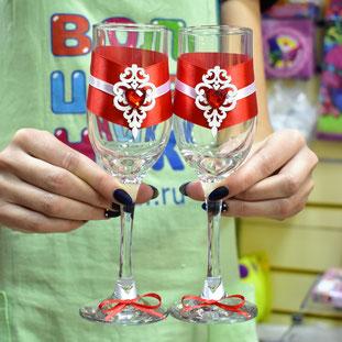 Свадебные бокалы купить в Казани
