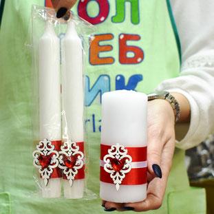 Свадебные свечи купить в Казани