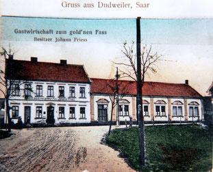 dudweiler, notkirche, zum goldenen fass, herrensohrer weg