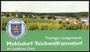 Willkommen im Gemeindeverband Mohlsdorf-Teichwolframsdorf