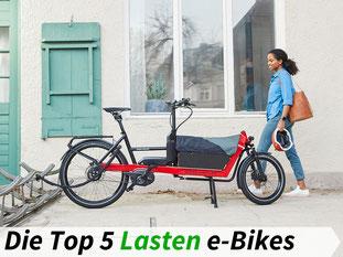 Die besten Lasten e-Bikes 2021
