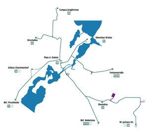 Netzplan der Potsdamer Straßenbahn