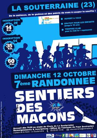 rando VTT du Sentier des Maçons le tract