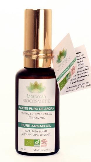 Aceite de Argán Bio de Moroccan Biocosmetic.