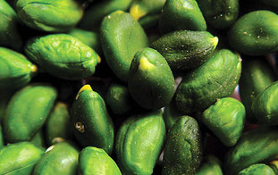 Pistachos pelados verdes pistacho de lujo
