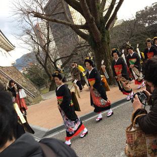 Toka Ebisu Parade at Kokura Castle