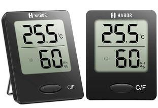 Luftbefeuchter für Zimmerpflanzen - Ein Hygrometer dient der Messung der Luftfeuchtigkeit im Innenbereich. Du kannst so also die Bedingungen in deinen eigenen vier Wänden bestimmen und sie auf die Bedürfnisse deiner Zimmerpflanzen anpassen.