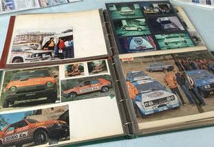 historical archive album rally cars pubblimais fiat abarth lancia