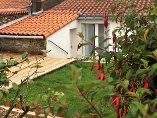gite Nantes Grandlieu Le gite terrasse