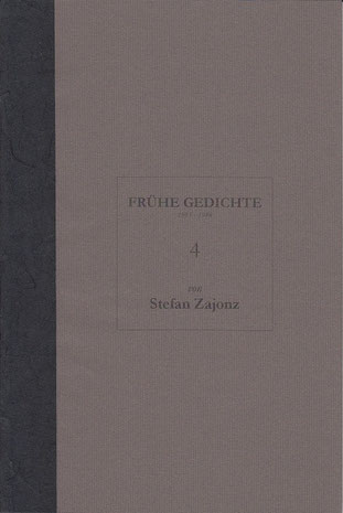 Stefan Zajonz, FG, Poesieheft Bd.4 / Deutpols, 24.09.2000, Bonn-Bad Godesberg
