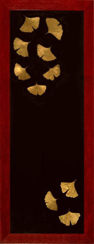 Kyoto.  Technique mixte sur bois,  40 x 102 cm