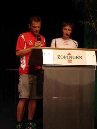 Eröffnung der POWERMAN-WM 2005 in Zofingen.