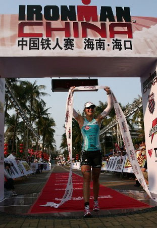Im Ziel! Hawaii-Quali beim Ironman China, 2010.