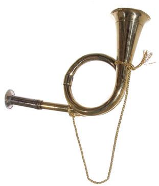 Jagdhorn aus Messing