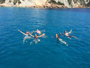 Meezeilen gezin Ibiza