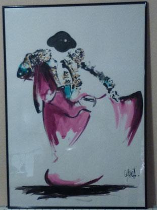 une oeuvre unique spécialement créée pour l'association, grâce à la grande générosité de l'artiste Tom Garcia.
