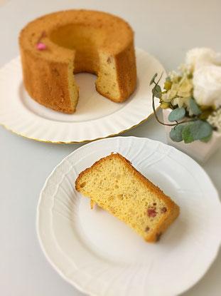 米粉と桜のシフォンケーキ