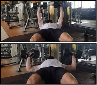 dumbbell press horizontal flat