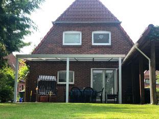 Ferienhaus Siems-Müller Bad Zwischenahn - Terrasse Carport