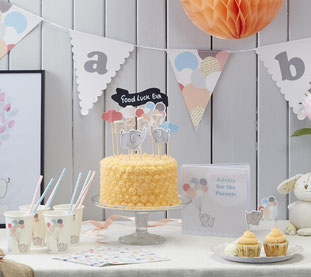 BABY SHOWER PETIT ELEPHANT-DECO BABY SHOWER FILLE- GIRL BABY SHOWER DECORATION