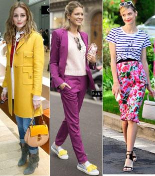 tenues vestimentaires colorés pour le printemps 2015