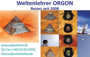 Orgon Pyramide und Orgonit Produkte u.a. Chembuster/Cloudbuster und Orgonit Amulette und Talismane mit Heilsteinen.