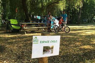 Camping Sites et Paysages Les Saules à Cheverny - Loire Valley - Des espaces cyclo aménagés pour les voyageurs à vélo