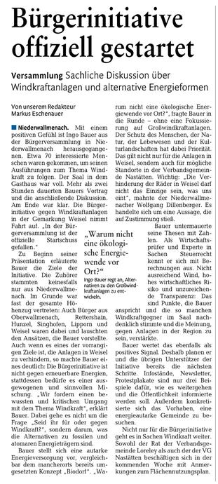 Rhein-Lahn-Zeitung vom 22.11.2014