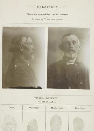 Signalementkaart Veenhuizen opname 24-04-1896