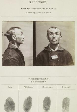 Signalementskaart Veenhuizen opname 06-07-1896