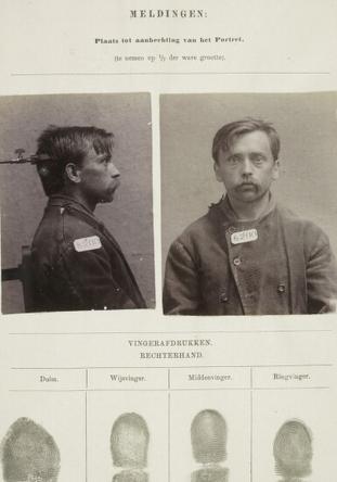 Signalementkaart Veenhuizen opname: 05-06-1896